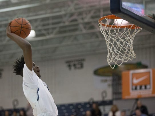 Ranney's Bryan Antoing gets ready to slam one home