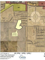 A map shows area proposed for annexation by owner of