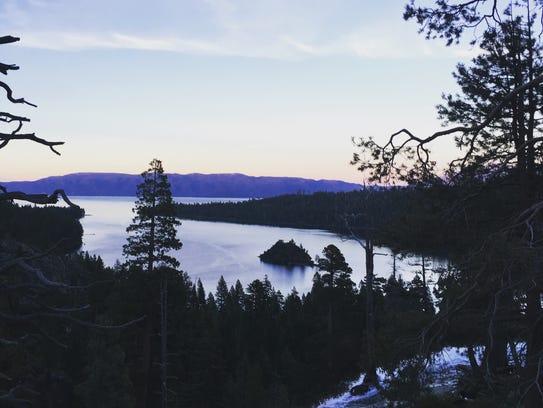 The view at Emerald Bay at Lake Tahoe last year.
