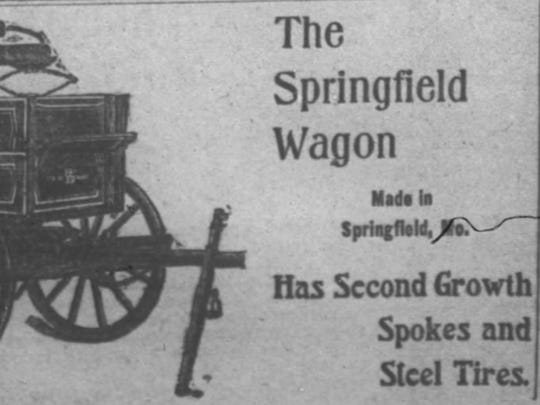 This advertisement for a Springfield Wagon appeared in The-Leader Democrat, a precursor to the News-Leader, on Aug. 30, 1901.