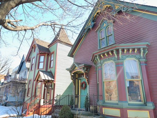 Some of the Victorian-era houses in Corktown have survived