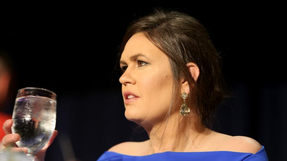 Sarah Huckabee Sanders at the WHCD.