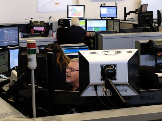 York County 911 dispatch floor shown July 22, 2016. John Pavoncello photo