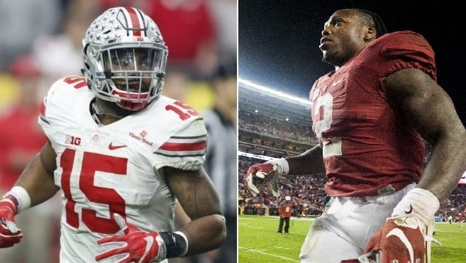 Ezekiel Elliott and Derrick Henry are considered the top two running backs entering the 2016 NFL Draft.