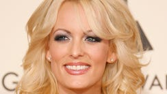 former adult film star Stormy Daniel appears at the