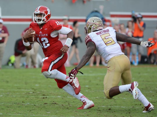 Jacoby Brissett and NC State nearly pulled off the upset over FSU in 2014.