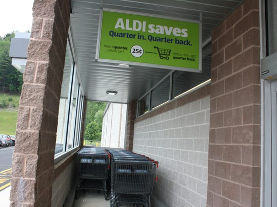 ALDI has a cart system that requires customers to pay