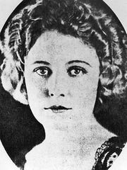 Handout photo of silent screen actress Edna Purviance, who lived in Paradise Valley and Lovelock before launching her film career in Hollywood in 1915.