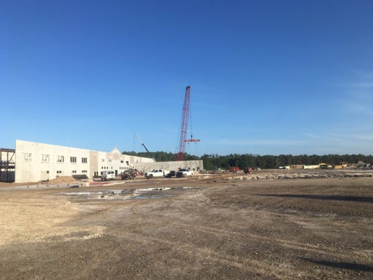 Image of construction site of new high school in Bonita