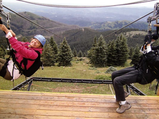 We're ready to fly! Yvonne and BJ are seconds away from the thrill of their lives — zip-lining the highest in the world!