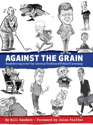 """Against the Grain"" book jacket by Bill Sanders"