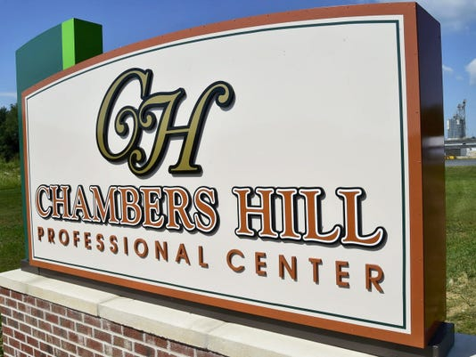 Chambers Hill Professional Center, seen on Wednesday, has two nearly completed buildings that are ready to lease at Fifth Avenue, Chambersburg.