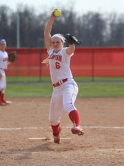 Pitching Wednesday during Game 1 for Canton is Mackenna