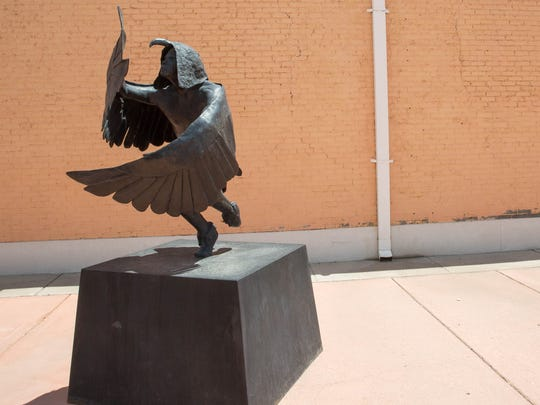 The Foundation for Las Cruces Museums is asking the Las Cruces Community to help them keep the Eagle Man statue here in Las Cruces. Thursday July 13, 2017. The Foundation is asking for pledges in the amount of $63,000 by August 31, 2017.