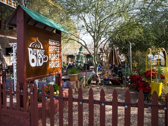 This is Bergies Coffee Roast House in downtown Gilbert,