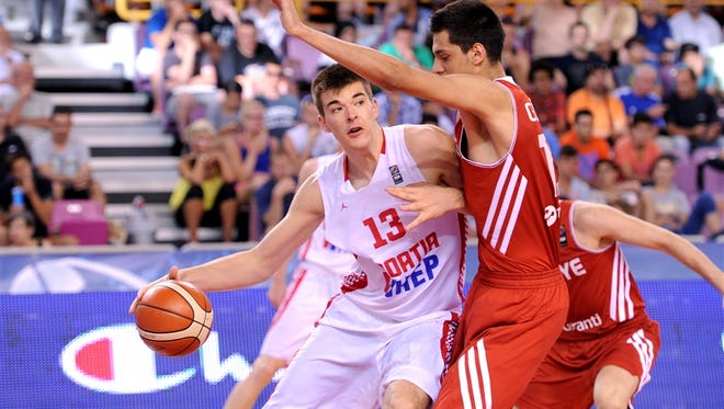 The Pistons were one of four teams 19-year-old center Ivica Zubac worked out for.