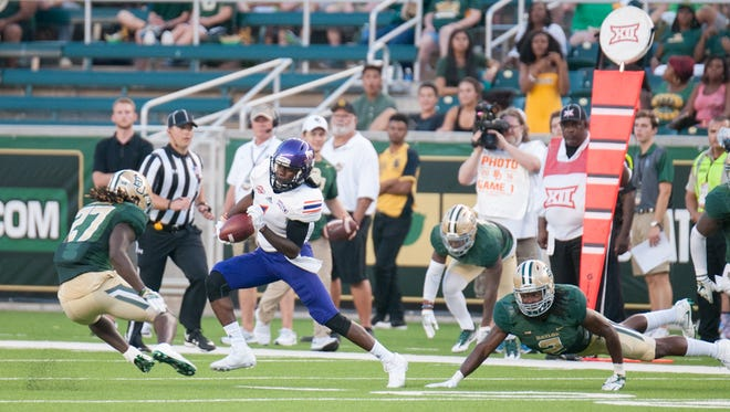 Wide receiver Bobby Chan Chan made the Demons' longest play of the game with a 20-yard reception against Baylor.