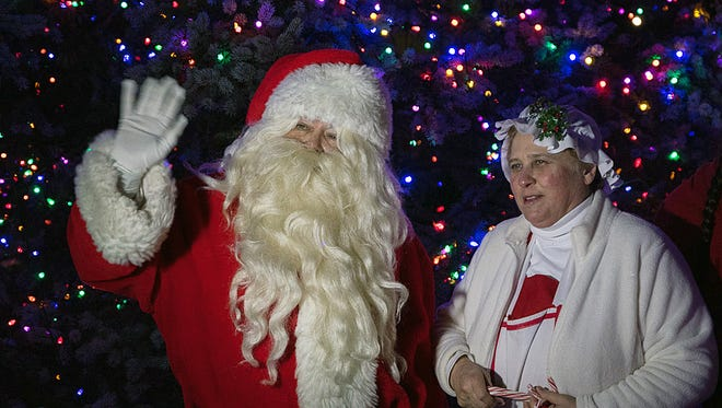 Santa and Mrs. Claus will be available to visit with children Saturday in Olde West Chester at the Christmas Walk and parade.