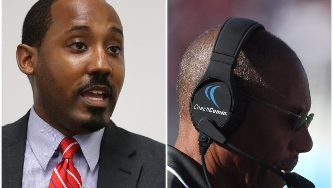 (Left) State Rep. Ramon Alexander said FAMU head football coach Alex Wood should be immediately fired after a loss to Bethune-Cookman.