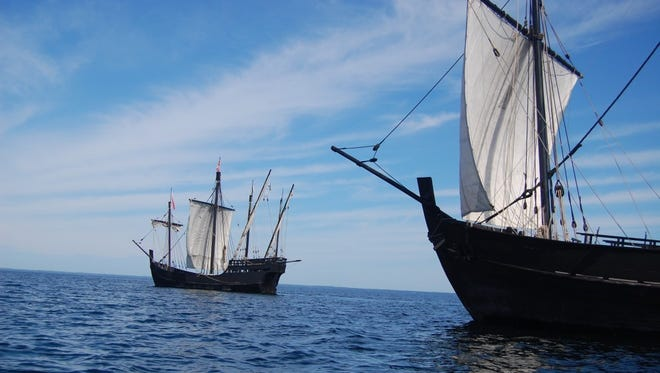 Replicas of Columbus' ships the Nina and Pinta will make stops in March in Orange Beach and Fort Walton Beach.