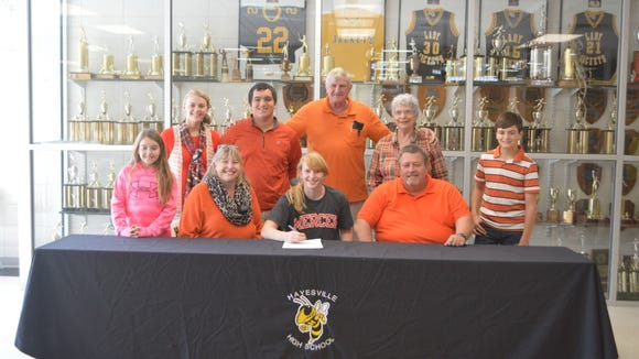 Hayesville senior Amanda Thompson has signed to play
