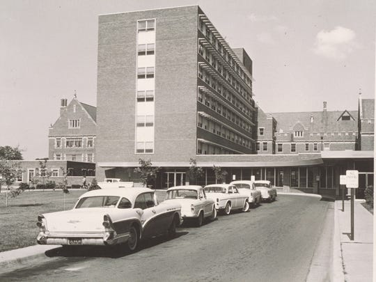 Ball Memorial Hospital in a photo taken in the 1950s.
