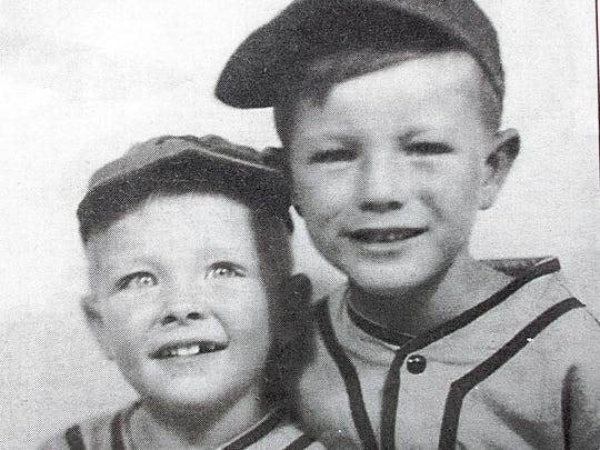 Even at young ages in 1955, baseball was part of Joe