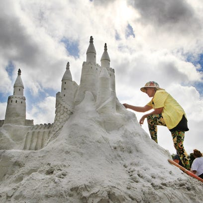This is a file photo of  the sandsculpting championships