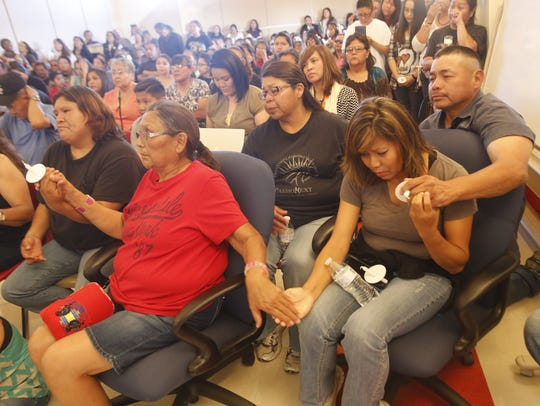 Mourners packed the San Juan Chapter house in Lower