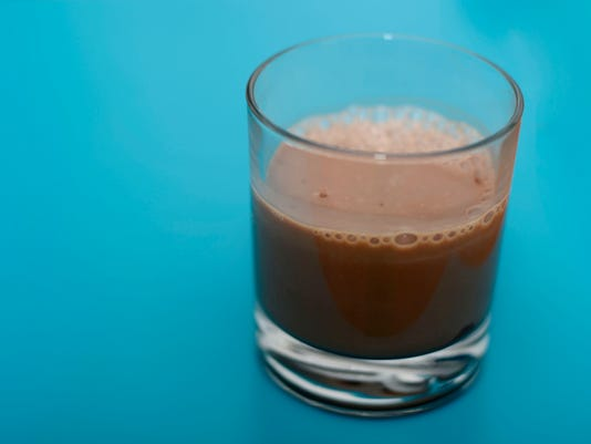 Mandatory post-run chocolate milk. DAILY RECORD/SUNDAY NEWS - KATE PENN