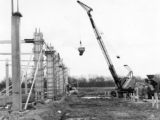 Construction continues at Ohio University Zanesville in this 1966 file photo.