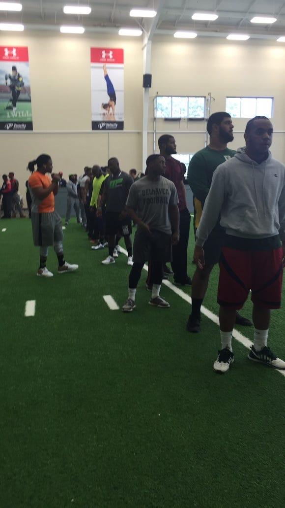 2015 Jackson State pro day at the Madison Healthplex Performance Center.