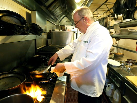 Co-owner and Chef Robert Horton at An American Bistro