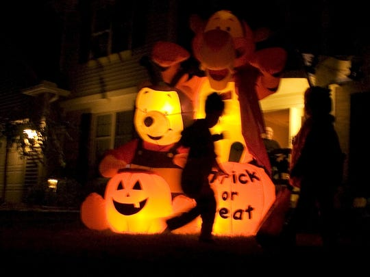 Trick or Treating for Halloween in the Woodford Green neighborhood in Webster., 2004.