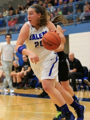 Salem senior Hayley Rogers started the game off right for the Rocks, hitting a trey in the opening moments.