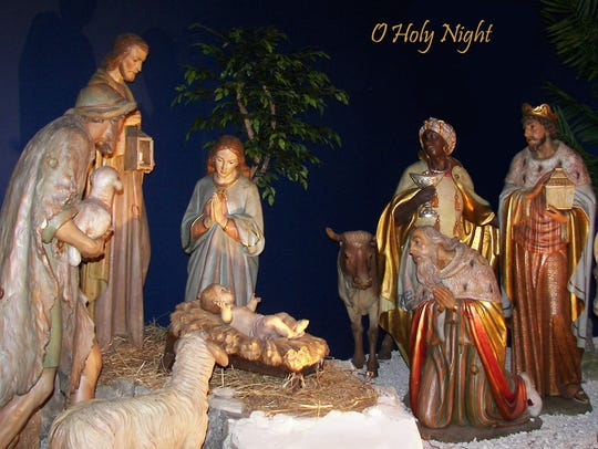 One of the many Nativity scenes displayed at the National