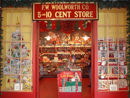 "The Woolworth ""five and dime"" store is one of the most popular attractions at the National Christmas Museum."