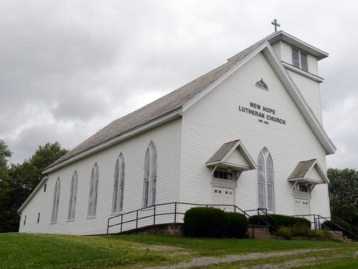 The New Hope Lutheran Church is located on Ostego Road