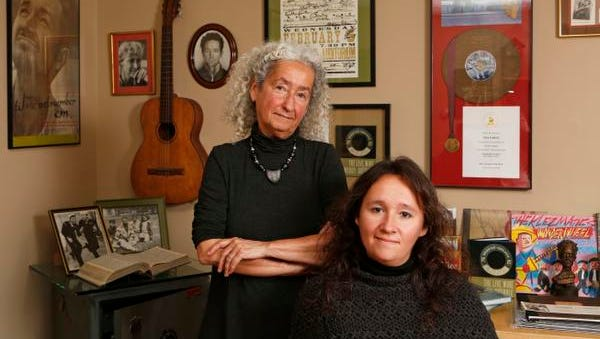 Nora Guthrie, left, and her daughter Anna Canoni at the Woody Guthrie Archives, Nov. 12, 2014, in Mount Kisco, N.Y.