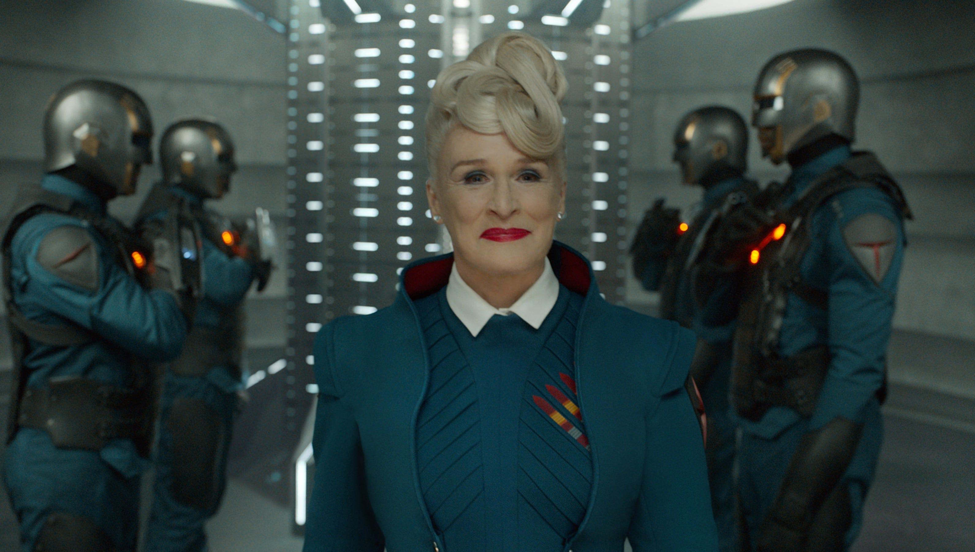 serious actress glenn close embraces guardians fun