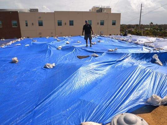 Cocoa Beach City Hall damged by Irma