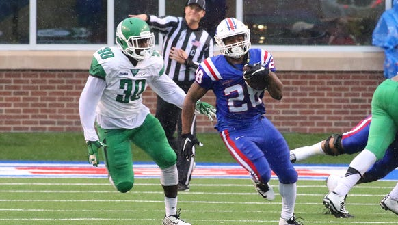 Louisiana Tech running back Kenneth Dixon is just three