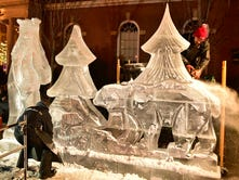 Watch DiMartino sculptors carve the ice