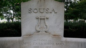 The grave of John Philip Sousa, the American composer and conductor famous for his marches, is seen at the Congressional Cemetery in Washington.
