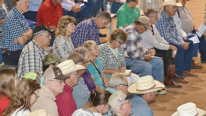 A group listens and takes notes during a past Texas Sheep and Goat Expo session. This year's event is set for Aug. 18-19 in San Angelo.