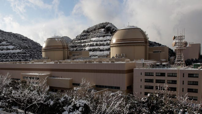 The No. 4 reactor, left, and the No. 3 reactor at Kansai Electric Power Co's Ohi nuclear power plant in Ohi, Fukui prefecture, western Japan.