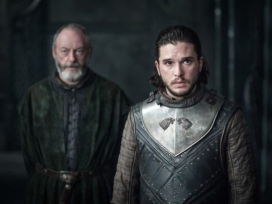 Challenges await Jon Snow (Kit Harington), right, and his trusted adviser, Davos Seaworth (Liam Cunningham), in the final season of HBO's 'Game of Thrones.'