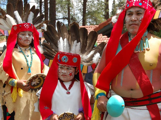 Dancers at the Hopi Festival of Arts and Culture at