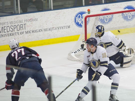 Scoring in the second period of Friday's game at USA