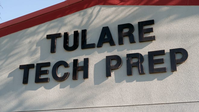 Tech Preparatory High School, located at 737 W Bardsley Ave. in Tulare.